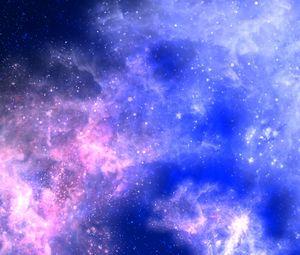 Превью обои звезды, галактика, сияние, свет