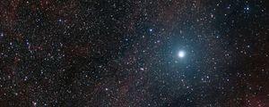 Превью обои звезды, сияние, космос