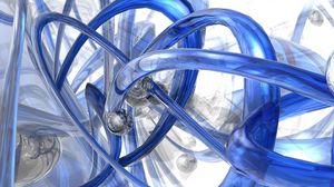 Превью обои синий, спираль, форма, белый, стекло