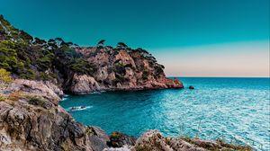 Превью обои скалы, море, берег