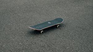 Превью обои скейтборд, скейт, асфальт, покрытие, минимализм