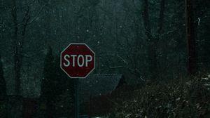 Превью обои слова, знак, запрет, снег