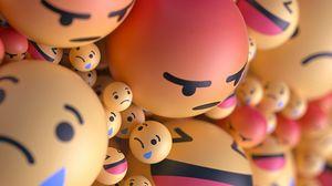 Превью обои смайлы, смайлики, шарики, 3d, эмоции
