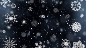 Превью обои снежинки, узоры, текстура, зима
