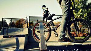 Превью обои спорт, люди, bmx, велосипед