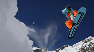 Превью обои спорт, сноуборд, горы, снег