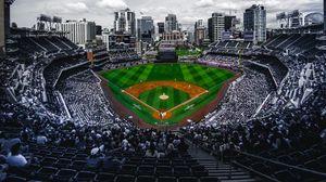 Превью обои стадион, трибуны, бейсбол, матч, поле, арена