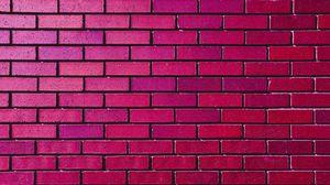 Превью обои стена, кирпич, кирпичный, текстура, розовый, фиолетовый, оттенки