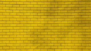 Превью обои стена, кирпичный, желтый, краска, кирпич, текстура