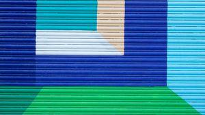 Превью обои стена, краска, разноцветный, геометрический, абстракция, современное искусство