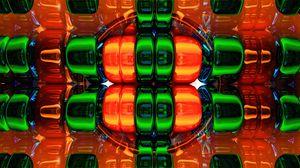 Превью обои структура, разноцветный, 3d, объем, форма