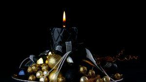 Превью обои свеча, рождество, орнамент