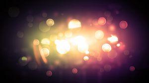 Превью обои свет, огни, сияние, блики