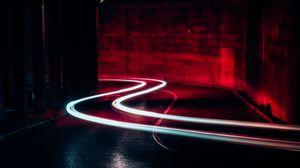 Превью обои свет, поворот, линии