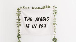 Превью обои текст, минимализм, магия, мотивация