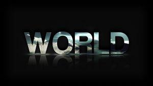 Превью обои текст, мир, world