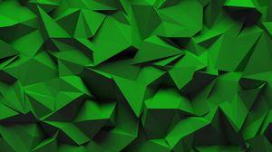 Превью обои текстура, рельеф, геометрический, объемный, зеленый