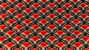 Превью обои текстура, структура, 3d, объемный, красный