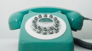 Превью обои телефон, ретро, винтаж, старый, бирюзовый