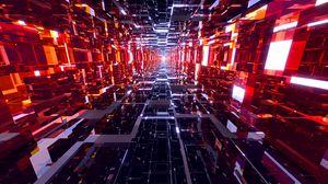 Превью обои тоннель, яркий, свечение, перспектива, 3d