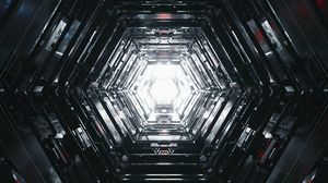 Превью обои тоннель, свет, свечение, 3d
