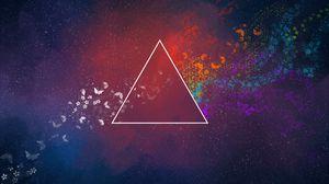 Превью обои треугольник, абстракция, пятна, бабочки, узоры