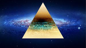 Превью обои треугольник, фон, точки, свет