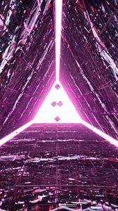 Превью обои треугольник, свечение, 3d