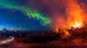 Превью обои треугольники, геометрический, мозаика, разноцветный