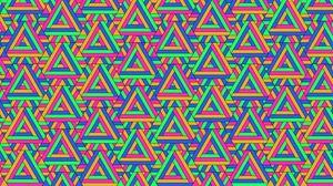 Превью обои треугольники, паттерн, узор, геометрический, разноцветный
