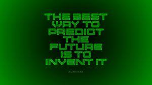 Превью обои будущее, мотивация, вдохновение, надпись, зеленый