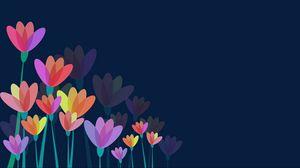 Превью обои цветы, вектор, разноцветный