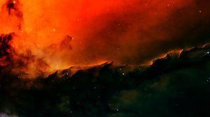 Превью обои туманность, космос, галактика, звезды