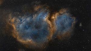 Превью обои туманность, мироздание, космос, звезды