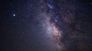 Превью обои туманность, звезды, космос, вселенная, галактика, фиолетовый