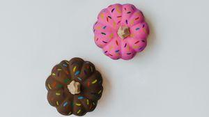 Превью обои тыква, краска, разноцветный, декоративный, минимализм