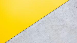 Превью обои угол, треугольник, желтый, серый, минимализм