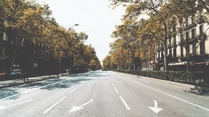 Превью обои улица, город, дорога, разметка
