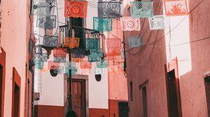 Превью обои улица, салфетки, архитектура, мексика