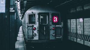 Превью обои вагон, метро, подземный
