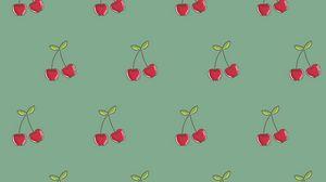 Превью обои вишня, узоры, ягоды, вектор, текстура