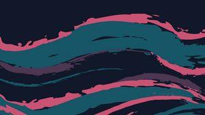 Превью обои волна, мазки, краска, абстракция, минимализм