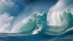 Превью обои волна, океан, всплеск, море, сила, брызги