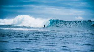 Превью обои волна, серфингист, серфинг, океан, вода