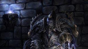 Превью обои warhammer 40k, избранник, доспехи, меч, тзинча, хаосит, воин