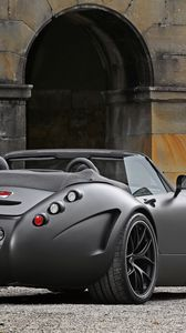 Превью обои wiesmann, roadster, mf5 v10, black, bat