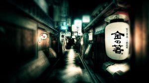 Превью обои япония, улица, фонари