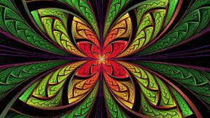 Превью обои яркий, цветок, форма, разноцветный