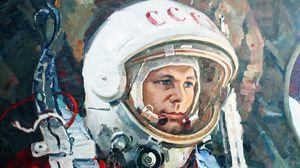 Превью обои юрий гагарин, космонавт, ссср, скафанрд