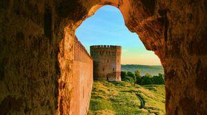 Превью обои замок, испания, камни, средневековье